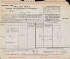 A series of documents from 1903/04 chronicling the rates demands and subsequent recovery action taken against...